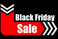 Black Friday sale sign logo Royalty Free Stock Image