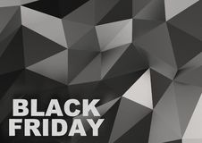 Black Friday sale sign on low-poly background. 3d illustration. Black Friday sale sign on low-poly background Stock Photography