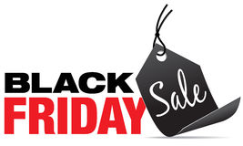 Black Friday Sale. Sign with black price tag royalty free stock image