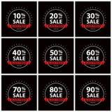 Black friday sale sign sets Stock Photo