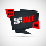 Black Friday Sale. Special offer banner, discount 75% off. Lowest price. Banner for business, promotion and advertising. Royalty Free Stock Images