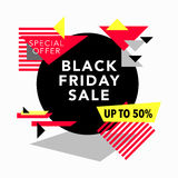 Black Friday Sale and Special offer banner Stock Images