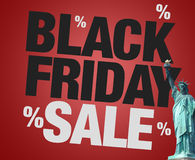 Black Friday Sale statue of liberty usa Royalty Free Stock Image