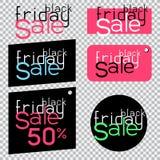 Black friday sale sticker Royalty Free Stock Photos