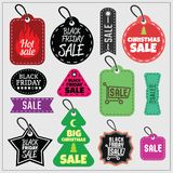 Black Friday Sale stickers. Vector Stock Image