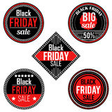 Black Friday sale stickers and labels Royalty Free Stock Photo