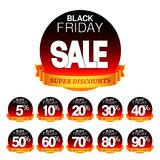 Black Friday Sale Stickers Stock Photography