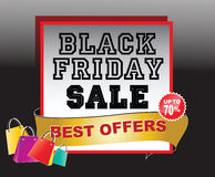 Black Friday Sale tag or background Royalty Free Stock Photo