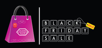Black Friday Sale tag or background Stock Image