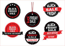 Black Friday Sale tag or background Stock Images