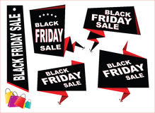 Black Friday Sale tag or background Royalty Free Stock Photos