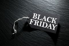 Black Friday Sale tag background Stock Image