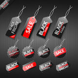 Black friday sale tag design. Eps10 Stock Image