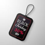 Black Friday sale tag. With the designation of the value of the discount. Discount and price, design label,  emblem, flat style, discount symbols. Vector Royalty Free Stock Photos
