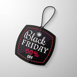Black Friday sale tag. With the designation of the value of the discount. Discount and price, design label,  emblem, flat style, discount symbols. Vector Stock Image