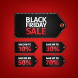 Black Friday sale tag. Easy editable eps 10 vector. No open shapes or paths . Clothes, furnishings, cars, food sale. Black friday design, sale, discount Vector Illustration