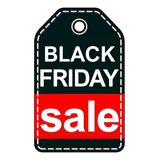 Black Friday sale tag isolated on white background. Vector illustration can be used as sticker, badge, sign, stamp, logo, banner, icon or label Royalty Free Stock Photos