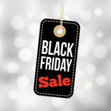 Black Friday sale tag, label and blurred background, business  Stock Photos