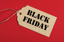 Black Friday sale tag Royalty Free Stock Photos