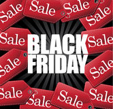 Black Friday Sale Tags and burst Royalty Free Stock Image
