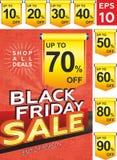 Black friday sale. Banner layout design, poster design, price tag stock illustration