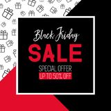 Black friday sale template. Promotional banner. Black friday sale template. Vector promotional banner Stock Image