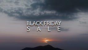 Black Friday Sale - text animation stock illustration