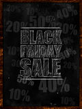 Black Friday sale text on blackboard. Discount sales Royalty Free Stock Photo
