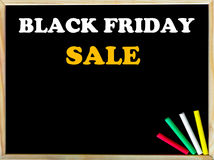 Black Friday Sale text on blackboard Royalty Free Stock Images