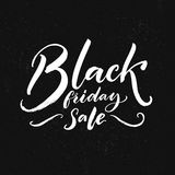 Black friday sale text on dark background. Vector clearance banner. Stock Photo