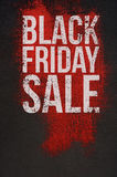 Black Friday Sale Text on dark and Red Background Stock Photo