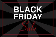 BLACK FRIDAY SALE text illustration, black and gray background, vector event stock photo