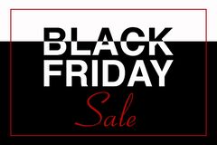BLACK FRIDAY SALE text illustration, black and white, vector event stock images
