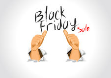 Black friday sale and thumbs up Stock Photography