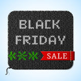Black Friday Sale title on knitted fabric Royalty Free Stock Photo