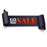 Black Friday Sale twisted banner Stock Images