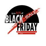 Black Friday sale up to 80 off special offer creative template. Black Friday . Up to 80% off. Sale special offer. Vector creative template for shops, web vector illustration