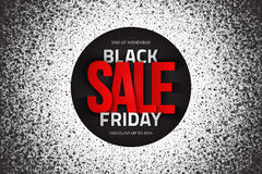 Black Friday Sale Vector Background Stock Photo