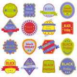 Black Friday Sale Vector Badges and Labels. Set of Black Friday Stickers and Banners Stock Photography