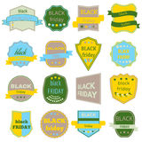 Black Friday Sale Vector Badges and Labels. Set of Black Friday Stickers and Banners Royalty Free Stock Photography