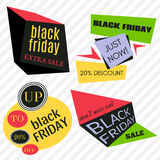 Black Friday Sale Vector Badges and Labels. Set of Black Friday Stickers and Banners Royalty Free Stock Photo