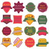 Black Friday Sale Vector Badges and Labels. Set of Black Friday Stickers and Banners Royalty Free Stock Image