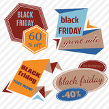 Black Friday Sale Vector Badges and Labels. Set of Black Friday Stickers and Banners Royalty Free Stock Images