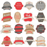 Black Friday Sale Vector Badges and Labels. Set of Black Friday Stickers and Banners Stock Photo