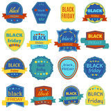 Black Friday Sale Vector Badges and Labels. Set of Black Friday Stickers and Banners. Vector Elements on White Background Royalty Free Stock Photography