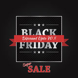 Black Friday Sale Vector Banner Design Stock Photo