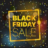 Black Friday Sale Vector concept. Black Friday Royalty Free Stock Images