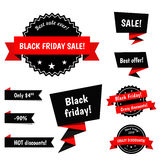 Black Friday Sale vector elements Stock Images