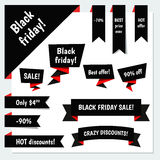Black Friday Sale vector elements Royalty Free Stock Image