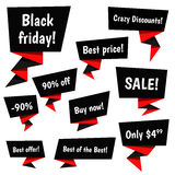 Black Friday Sale vector elements Royalty Free Stock Images